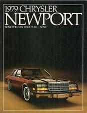 Chrysler Newport 1979 USA Market Sales Brochure 225-6 318-V8 360-V8