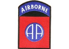 AIRBORNE MILITARY EMBROIDERED BIKER PATCH