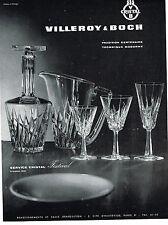 PUBLICITE ADVERTISING   1961   VILLEROY & BOCH  cristal service FESTIVAL