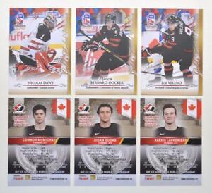 2020 BY cards IIHF U20 World Championship Team Canada Pick a Player Card