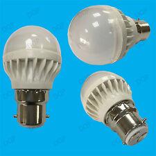 12x 5W B22 Blanco 6500K Mini Globo Luz de día LED Luz Bombilla Lámpara de bola de golf 400lm