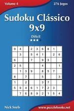 Sudoku: Sudoku Clássico 9x9 - Difícil - Volume 4 - 276 Jogos by Nick Snels...