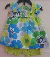 NEW Carter's Little Girl's 2 Piece Playwear Outfit Set - BLUE/YELLOW - 18M / 24M