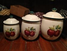 Apple Casuals by China Pearl Set of 3 Canisters