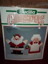 Bucilla Mr Mrs Santa Claus Plastic Canvas Table Decor