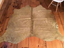 Kuhfell Stierfell Rindfell neu beige / gold metallisch 165cm x 190cm