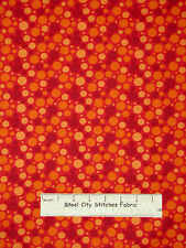 Geometric Dots Red Fabric 100% Cotton By The Yard Springs Tonal Dot CP50901
