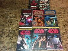 Lot of 8 Star Wars books~Heir To The Empire~Dark Force Rising~The Last Command+