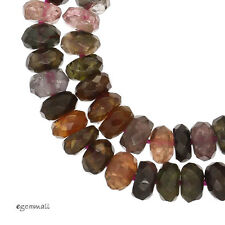 "16"" Tourmaline Faceted Rondelle Beads 5.5mm 110ct #84072"