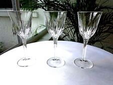 Set of 3 Cris D' Arques Castel Pattern Clear Crystal Cordial Glasses Retired