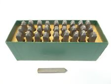 Markrite Metal Full Alphabet Punches Labeling Woodworking Tools Markers 3/16 Old