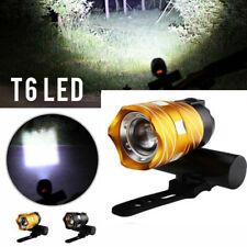 USB T6 LED luz de seguridad de bicicleta linterna de frente Lights láser Frontal
