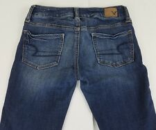 American Eagle Outfitters  Super Stretch Denim Blue  Jeans Size 0 Teen Girls  B1