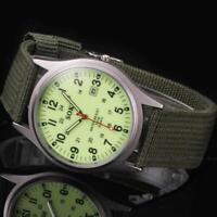 Military Men's Date Sport Stainless Steel Army Watch Analog Quartz WristWatch SR