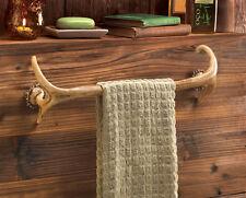 Deer antler Hunting Lodge cabin rustic decor Bathroom bath towel bar rack hook
