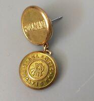 VTG Pullman ATLANTIC & PACIFIC RAILROAD RR Lapel Hat Pin Button Gold  Tone