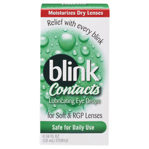 BLINK CONTACTS Lubricating Eye Drops 10 ML (STERILE) *EXP 11/2021*