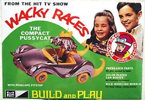 MPC934 Wacky Races Compact Pussycat 1/32 Scale Plastic Model Kit