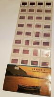Vintage 35mm Color Slides Greece Souvenir Photo Lot of 36 Vintage Greek Color
