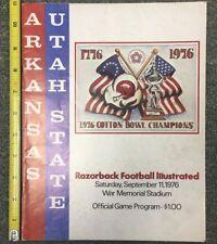 1976 SEPT. 11 COTTON BOWL CHAMPIONS ARKANSAS UTAH STATE OFFICIAL PROGRAM 91817