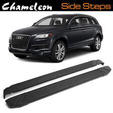 BLACK Running Boards / Side Steps for use on Audi Q7 2005-2015 1st Gen 4L Model