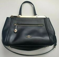 New Genuine Coach New York Black Gold Womens Ladies Tote Shoulder Hand Bag