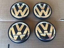 NEW SET OF 4 VOLKSWAGEN 70MM  2004-2010 VW TOUAREG CHROME CENTER WHEEL HUB CAPS