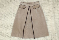 WILSONS Maxima Womens Size 6 Tan Suede Leather Lined A Line Skirt