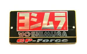 YOSHIMURA GP FORCE 3D HEATPROOF EXHAUST BADGE STICKER GRAPHIC DECAL SILENCER
