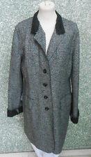 20 225/12 DinoModa Senso Del Vero Damen Mantel Jacke grau schwarz Gr. 42 Wolle