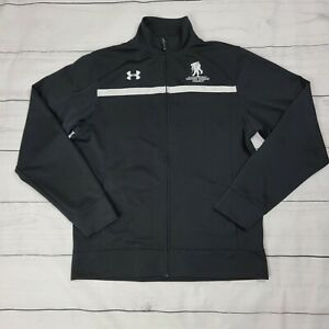 Wounded Warrior Project Under Armour Jacket Mens Medium Black Embroidered NWOT