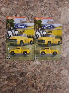 MATCHBOX FORD TRUCK SERIES  MOONEYES 56 FORD PICKUP LOT OF 2 NEW ON CARDS