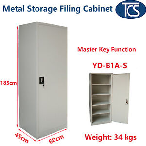 TCS New Assembled Single Door Stationary Metal Storage Cabinet Filing Cupboard