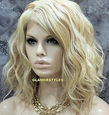 Bob Wavy Layered Blonde Mix Full Lace Front Wig Heat Ok Hair Piece #613/27 NWT
