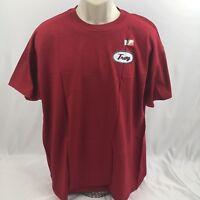 New Troy University Trojans Adult Unisex Red Short Sleeve Mechanic T-Shirt XL