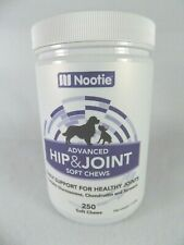 NOOTIE~ADVANCED HIP & JOINT 250 SOFT CHEWS~DOGS~GLUCOSAMINE~CHONDROITIN~TURMERIC