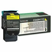 Lexmark C540H1YG High-Yield Toner, 2000 Page-Yield, Yellow (LEXC540H1YG)