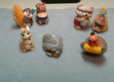90's Hallmark Merry Miniatures Thanksgiving Lot of 7
