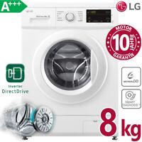LG Waschmaschine A+++ 8kg Frontlader 1400 U/min Direktantrieb Inverter Aqua Stop