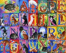 Alphabet Cat Print  by Irina Garmashova