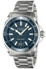 New Gucci Dive Blue Dial Stainless Steel Men's Watch YA136203