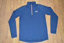 Euc Mens Under Armour Fitted 1/4 Zip Running Shirt Size M