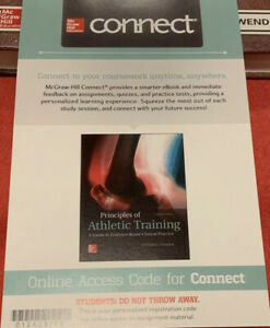 McGraw Hill Connect Principles Of athletic Training Code  ISBN 9781259846489
