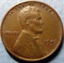 *Vintage and SCARCE  1945-S  LINCOLN WHEAT CENT,  San Francisco Mint WAR COIN