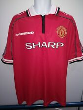 STAM #6 Manchester United Home Football Shirt Jersey 1998-2000 XXL JAAP STAM