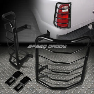 FOR 08-13 JEEP LIBERTY BLACK STAINLESS STEEL TAIL/BRAKE LIGHT/LAMP CAGE GUARD