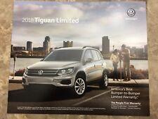 2018 VW TIGUAN LIMITED 4-page Original Sales Brochure