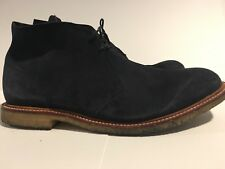 Lodger England  genuine Leather Navy chukka Desert ankle Boots US Size 10.5