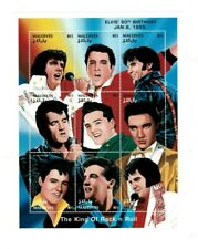 VINTAGE CLASSICS - MALDIVES 9525 - Elvis Presley Sheet of 9 Stamps - MNH