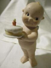 "ENESCO/O'NEIL Baby Kewpie Porcelain Figurine ""1st Birthday"" Signed/Dated 1991"
